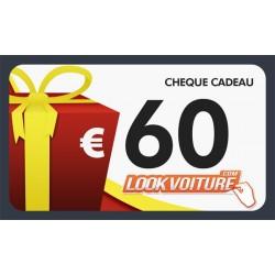 Chèque cadeau 60 €