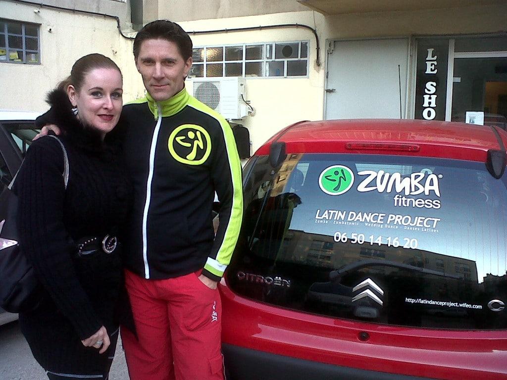 Un autocollant Zumba pour mettre sur sa voiture