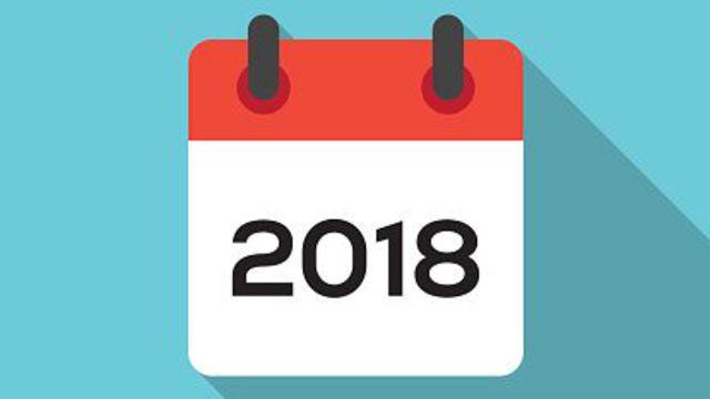 2017 est terminée, vive l'année 2018!