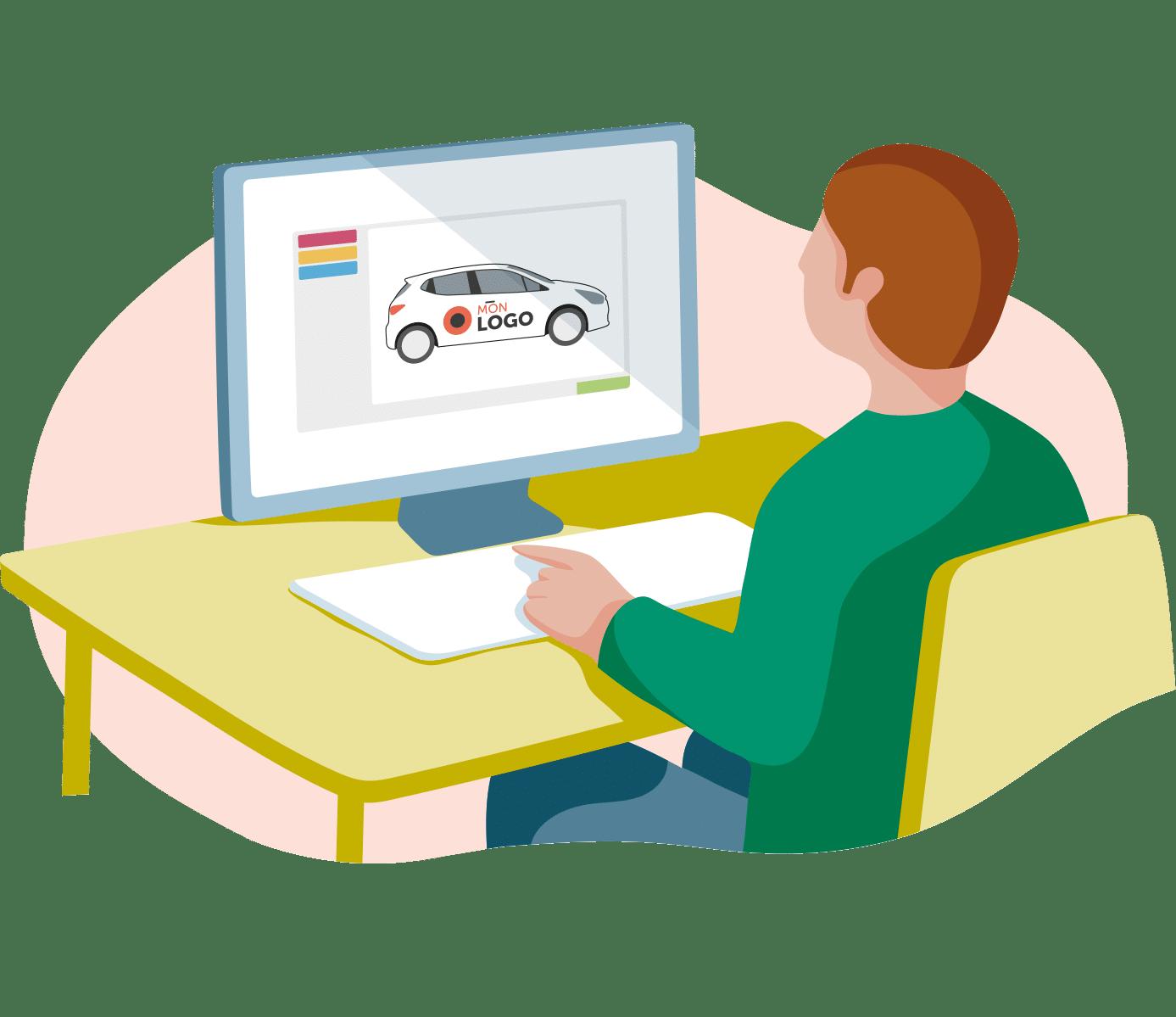 stickers voiture personnalisés logiciel