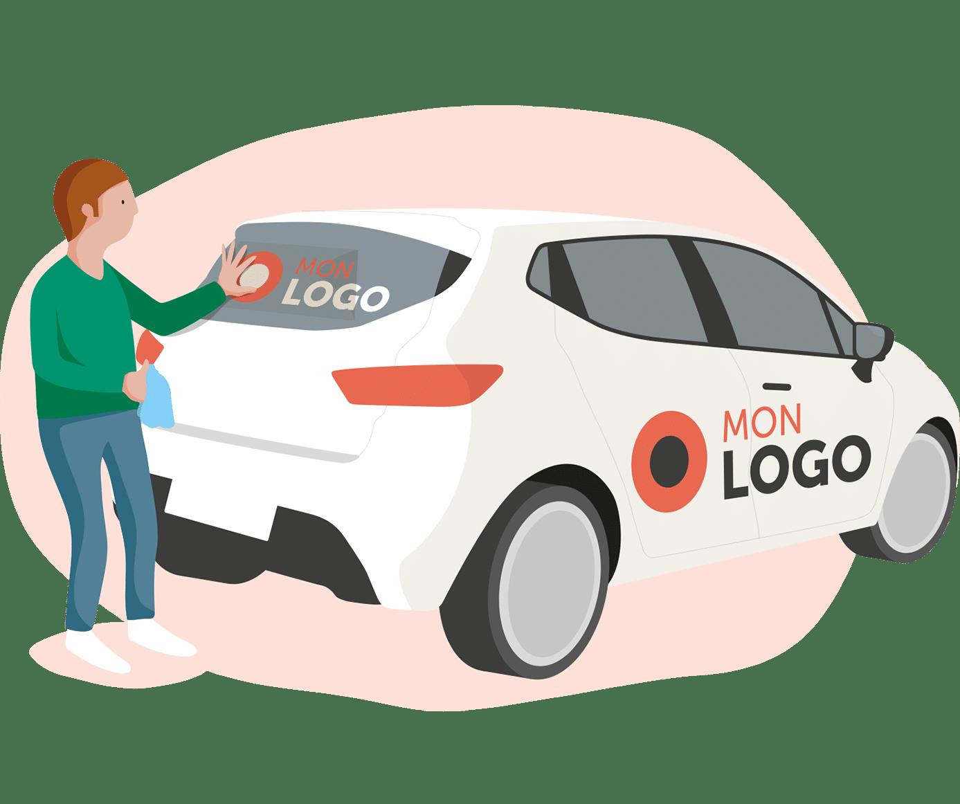 stickers voiture personnalisés pose