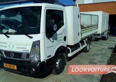 Camion paysagiste floqué par Lookvoiture