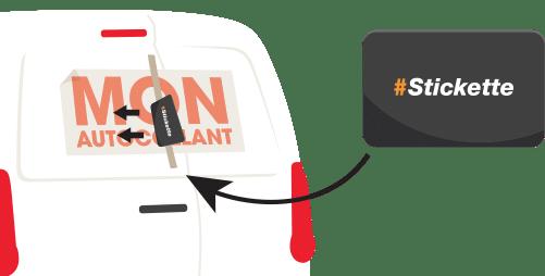 comment coller des autocollants voiture r ussir la pose des stickers. Black Bedroom Furniture Sets. Home Design Ideas
