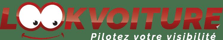 Autocollants voiture personnalisés - Logo de lookvoiture sur fond clair